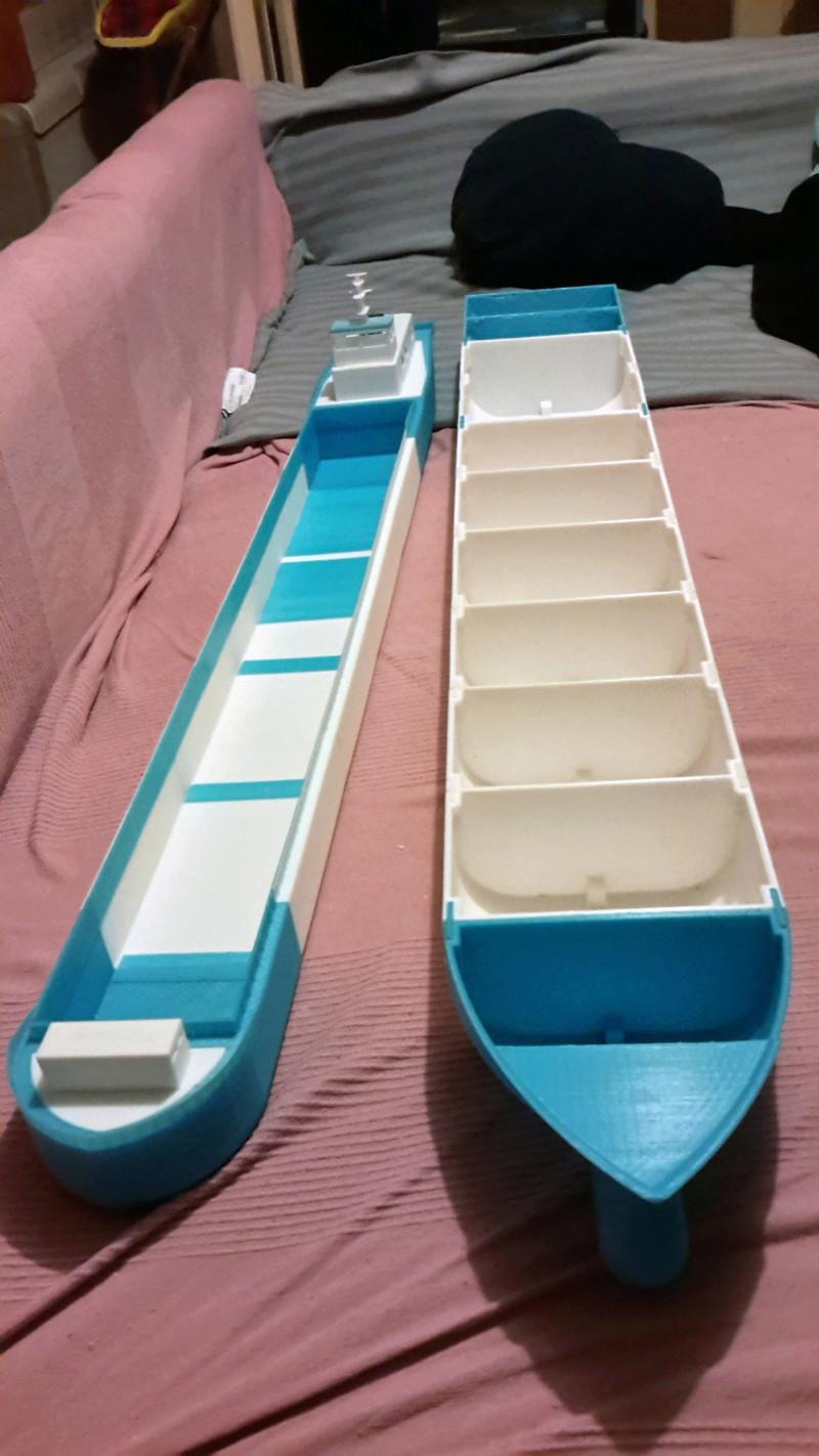 Cargo barge 100% 3D  - vendu 20171184