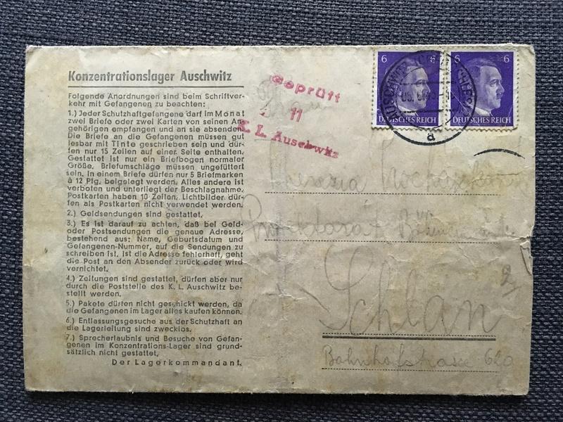 Nouvelles lettres camp de concentration Auschwitz/Buchenwald 761eec10