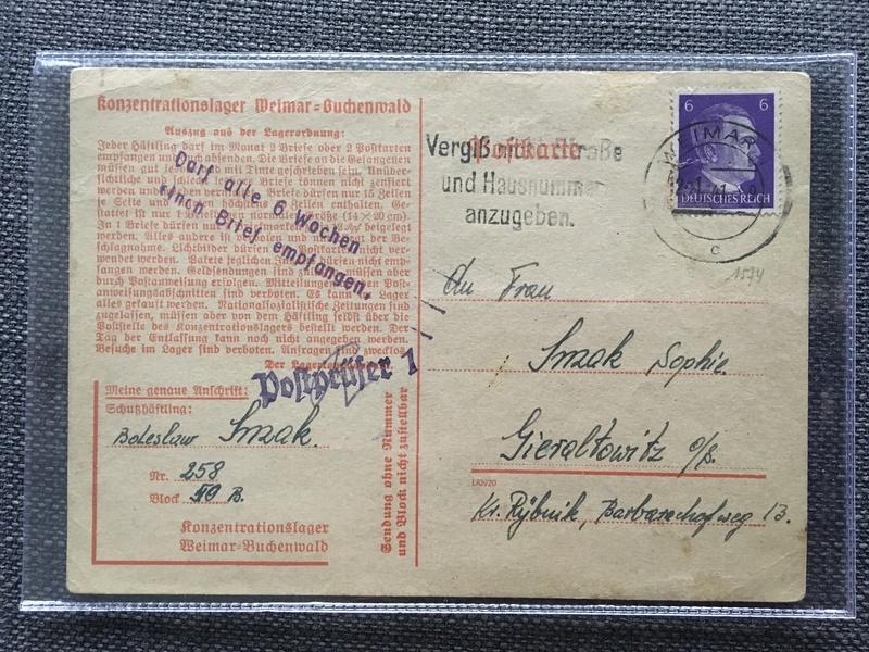 Nouvelles lettres camp de concentration Auschwitz/Buchenwald 94d32510