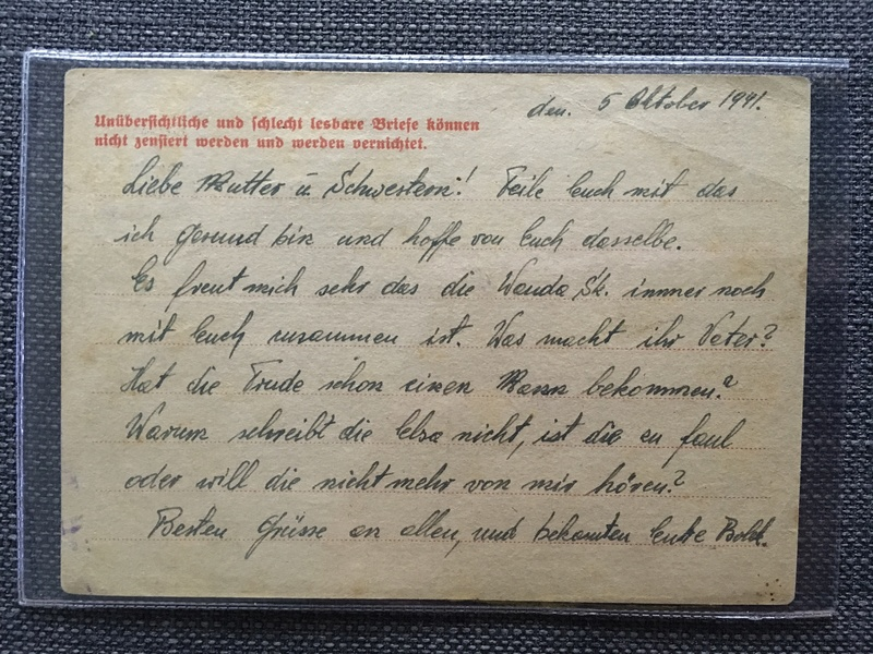 Nouvelles lettres camp de concentration Auschwitz/Buchenwald Dae22410