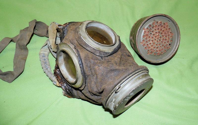 un masque à gaz WWI allemand émouvant, hommage. Masque14