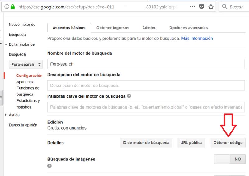 Motor de búsqueda de Google personalizado. Apertura de página sugerida en la misma pestaña Captur18