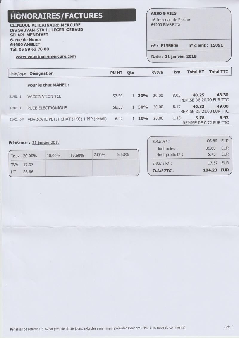 Primo vaccination et identif Mahel / Leo ( Mercure ) Numeir80