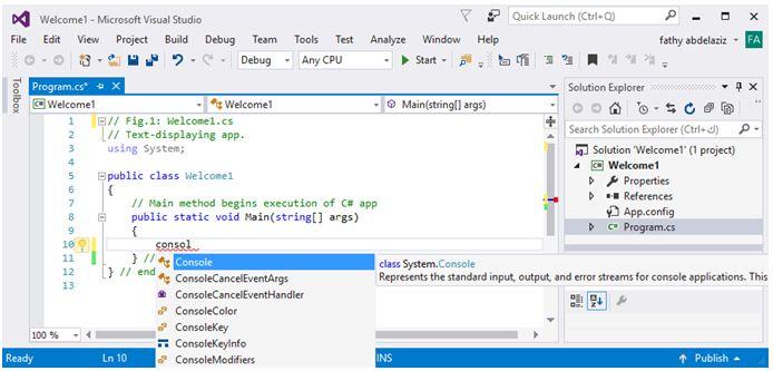 مدخل البرمجة بلغة السى شارب وتطبيقات الكونسول Console Applications   613