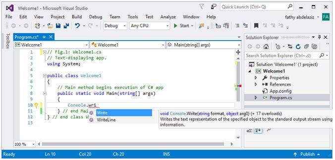 مدخل البرمجة بلغة السى شارب وتطبيقات الكونسول Console Applications   6b10