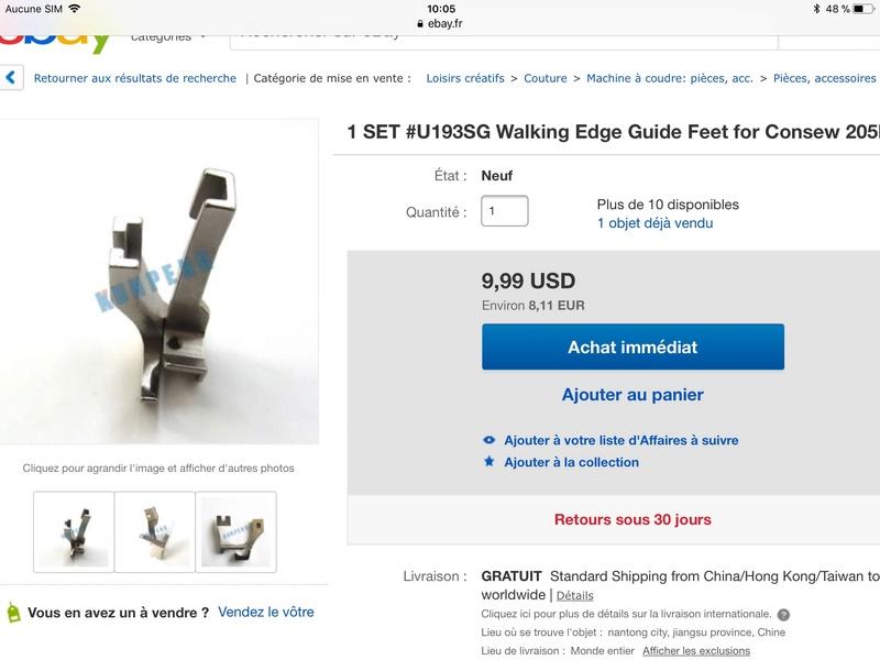 Les pieds presseur et marcheur 01181f10