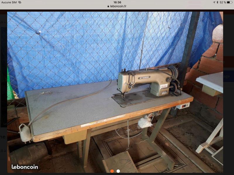 Photos des machines a coudre Mitrubishi à double entrainement par le pied 164dc610