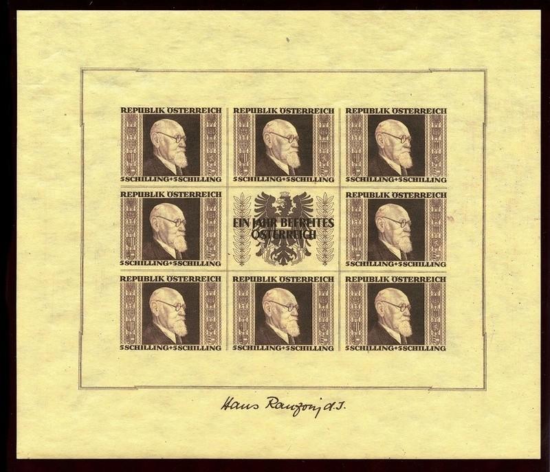 Briefmarken - Österreich, Briefmarken der Jahre 1945-1949 Ank_7819