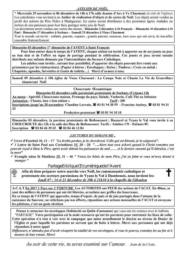 Trait d'Union du 26 novembre 2017 Tu171117