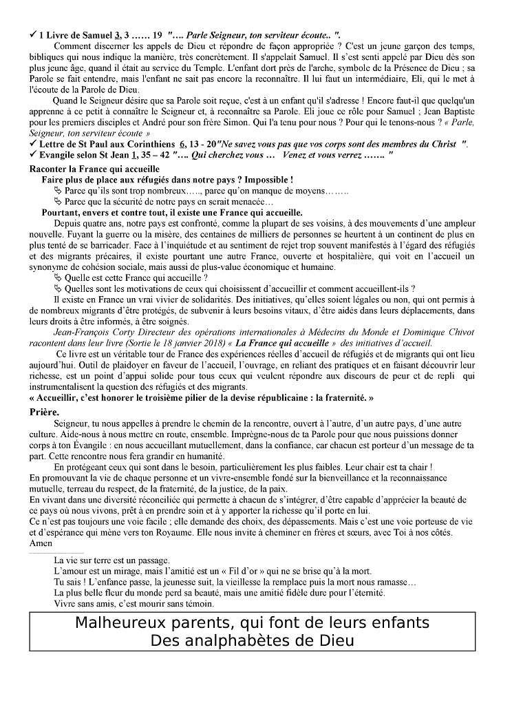 Trait d'Union du 14 janvier 2018 Tu180113