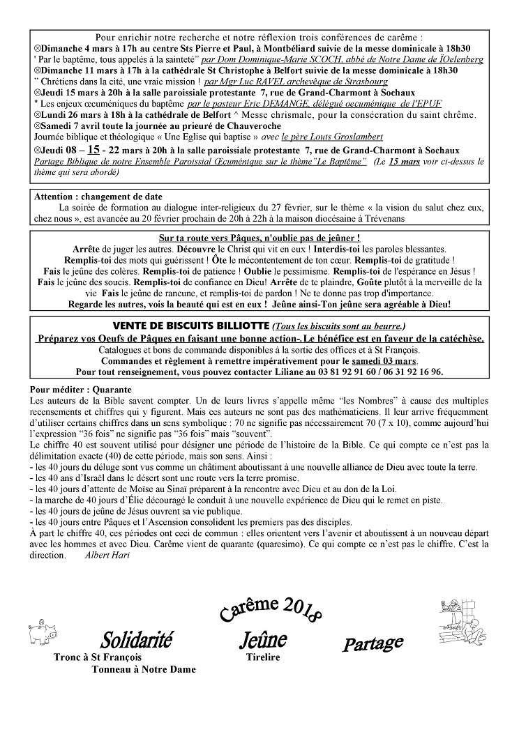 Trait d'Union du 18 février 2018 Tu180215