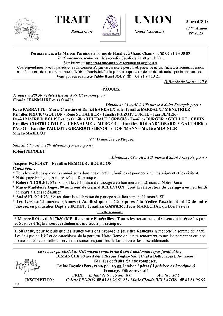 forum Nt Dame de L'Unité - 25 - Portail Tu180410