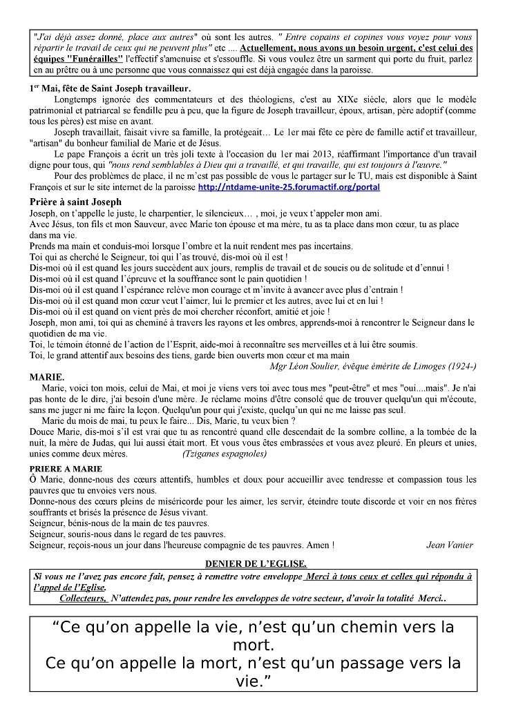 Trait d'Union du 29 avril 2018 Tu180419