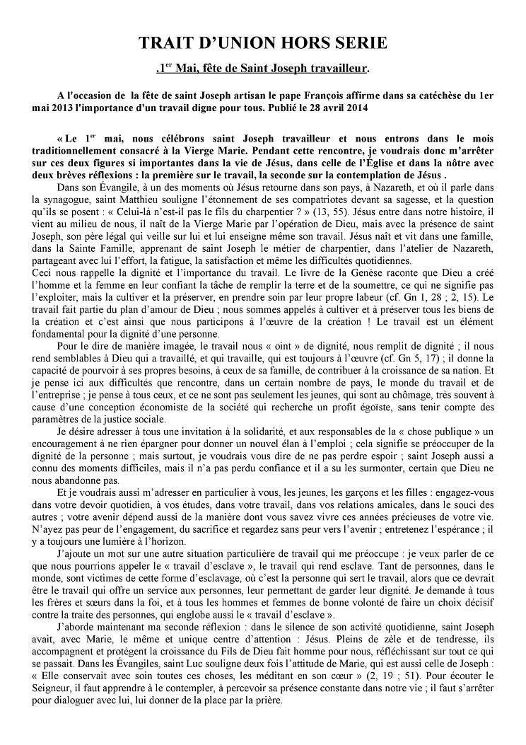 Trait d'Union du 29 avril 2018 Tu180420