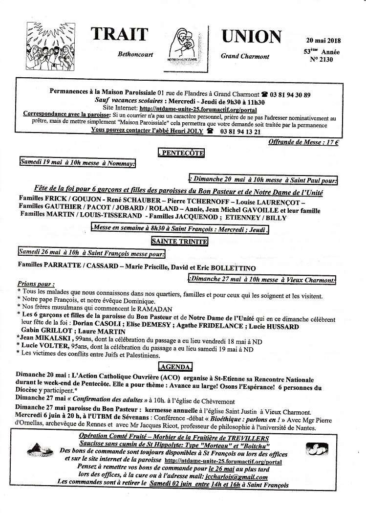 forum Nt Dame de L'Unité - 25 - Portail Tu180514