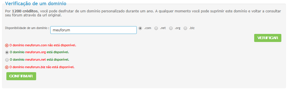 [FAQ] Comprar um domínio personalizado (pela Forumeiros) Domain10