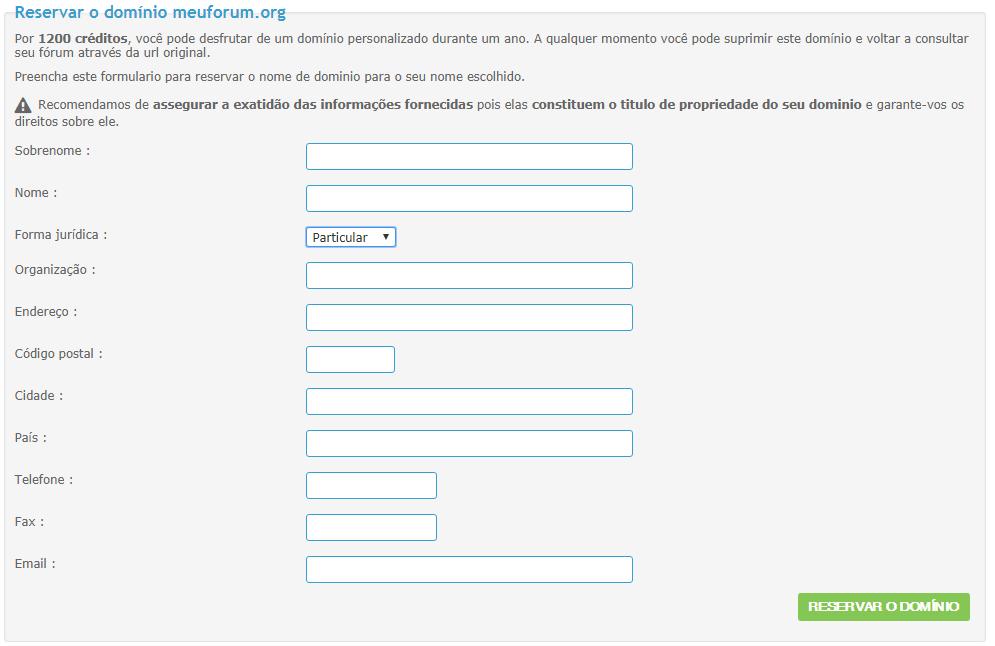 [FAQ] Comprar um domínio personalizado (pela Forumeiros) Domain11