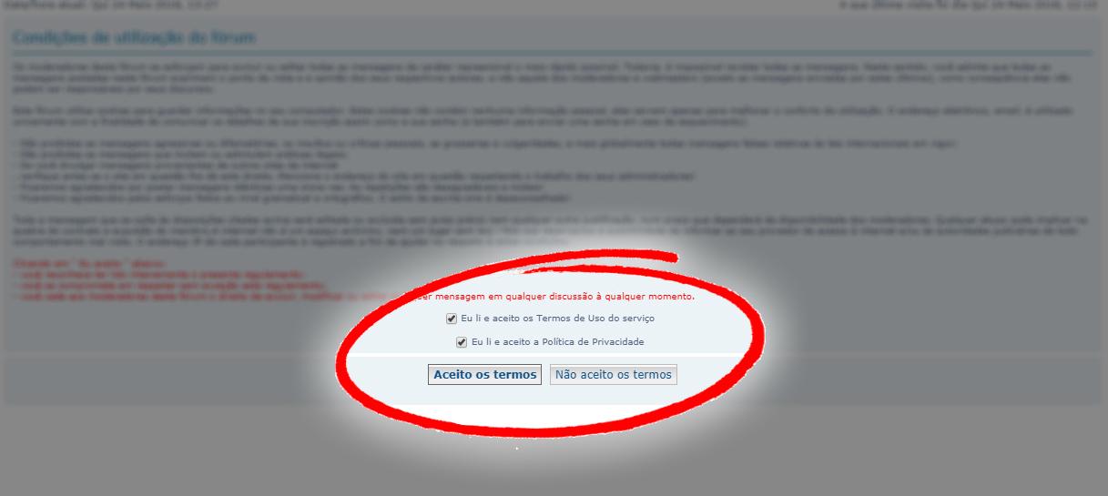 RGPD: Termos de Privacidade para os fóruns Terms-11