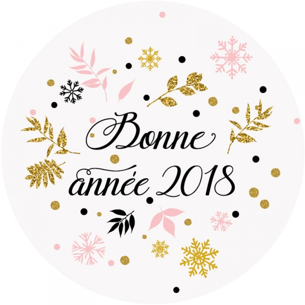 Je vous souhaite une Bonne année 2018 Meilleurs vœux Bonne santé... Sticke11