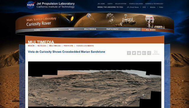 Extraños objetos en una imagen del Curiosity en Marte Inicio10