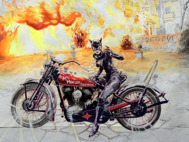l'artiste et motard Denis Sire expose  Dessin11