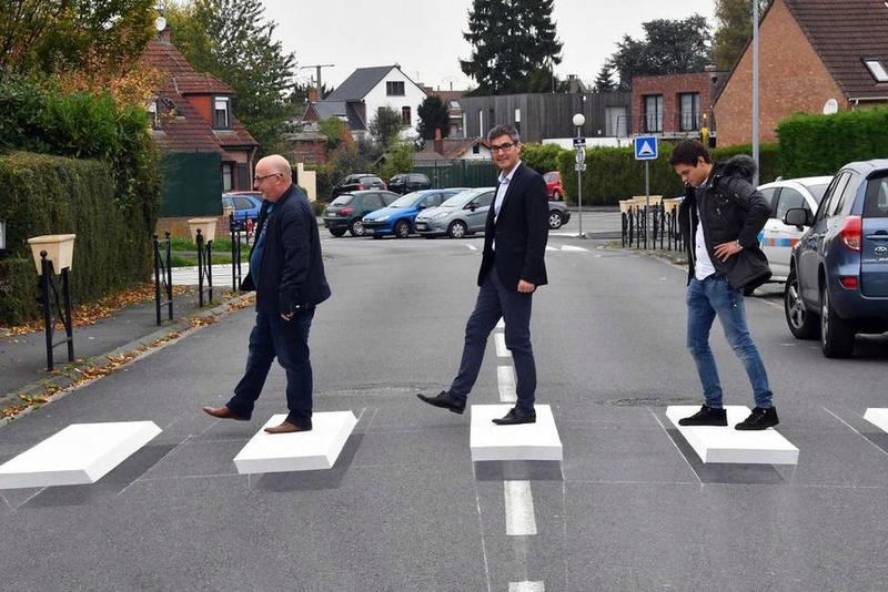 Les passage piéton en 3D arrive en France ! Passag10