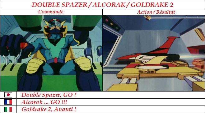 Goldorak : Commandes et Armement. Alcora10