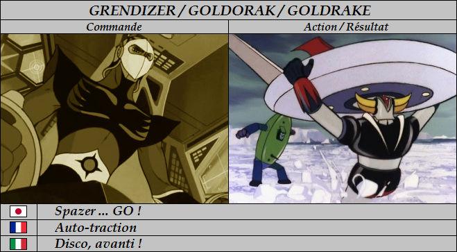 Goldorak : Commandes et Armement. Auto-t10