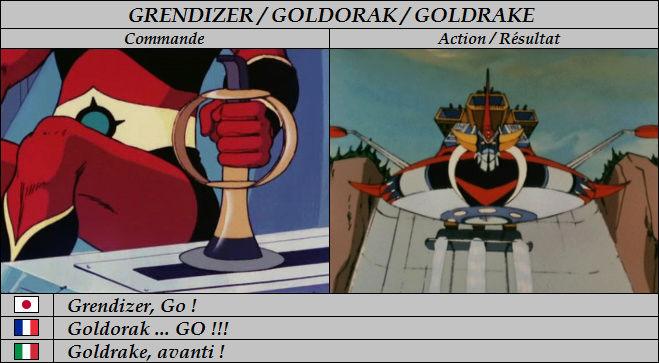 Goldorak : Commandes et Armement. Goldor28