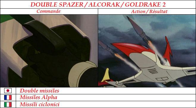 Goldorak : Commandes et Armement. Missil12