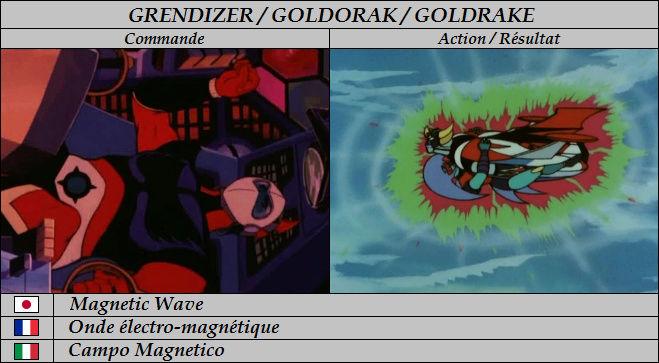 Goldorak : Commandes et Armement. Onde_y10
