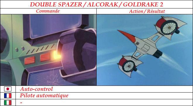 Goldorak : Commandes et Armement. Pilote10