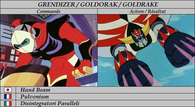 Goldorak : Commandes et Armement. Pulvon10