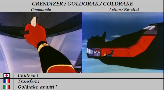 Goldorak : Commandes et Armement. Transf10