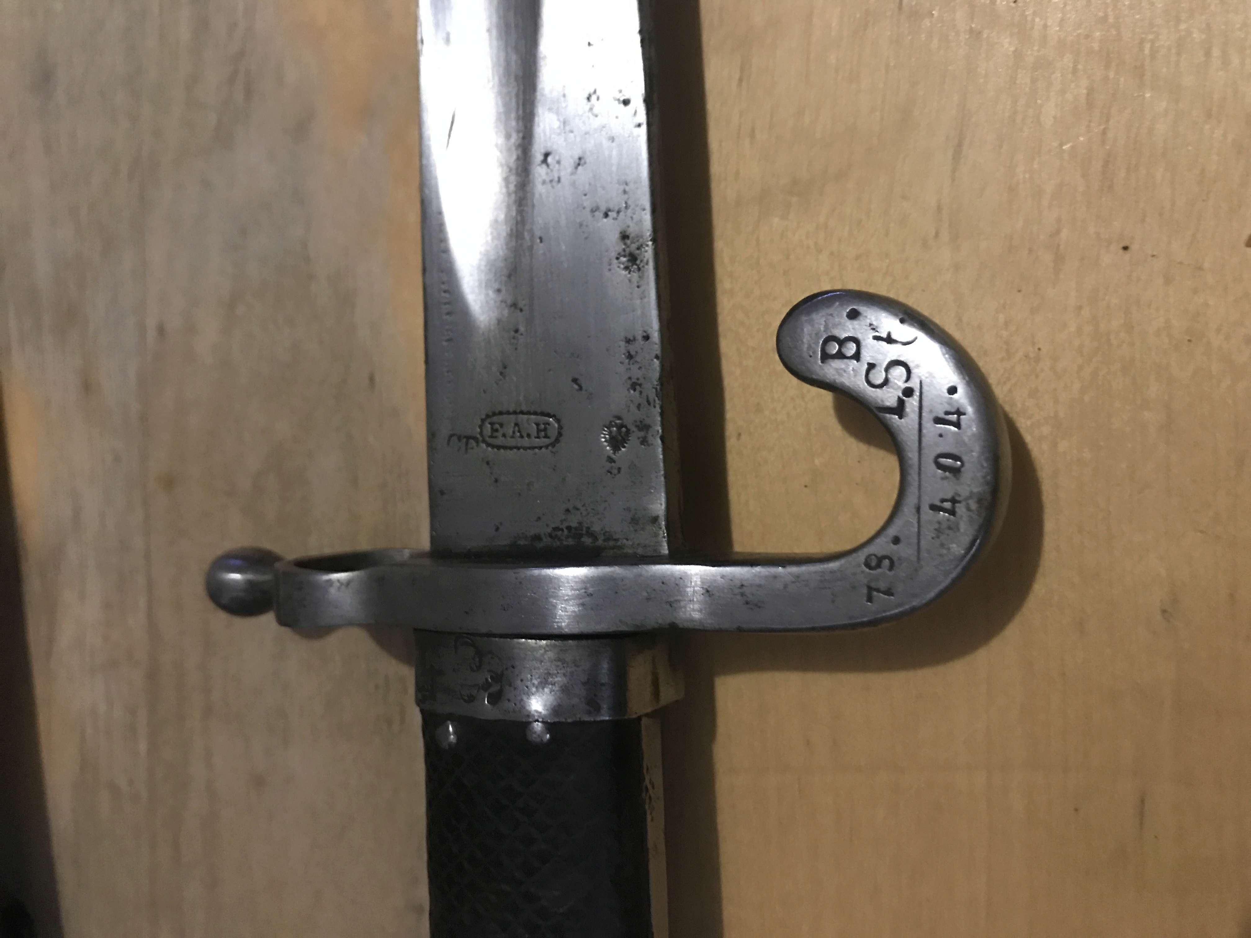 Estimation Baïonnette autriche 1867 fusil werndl Img_3310