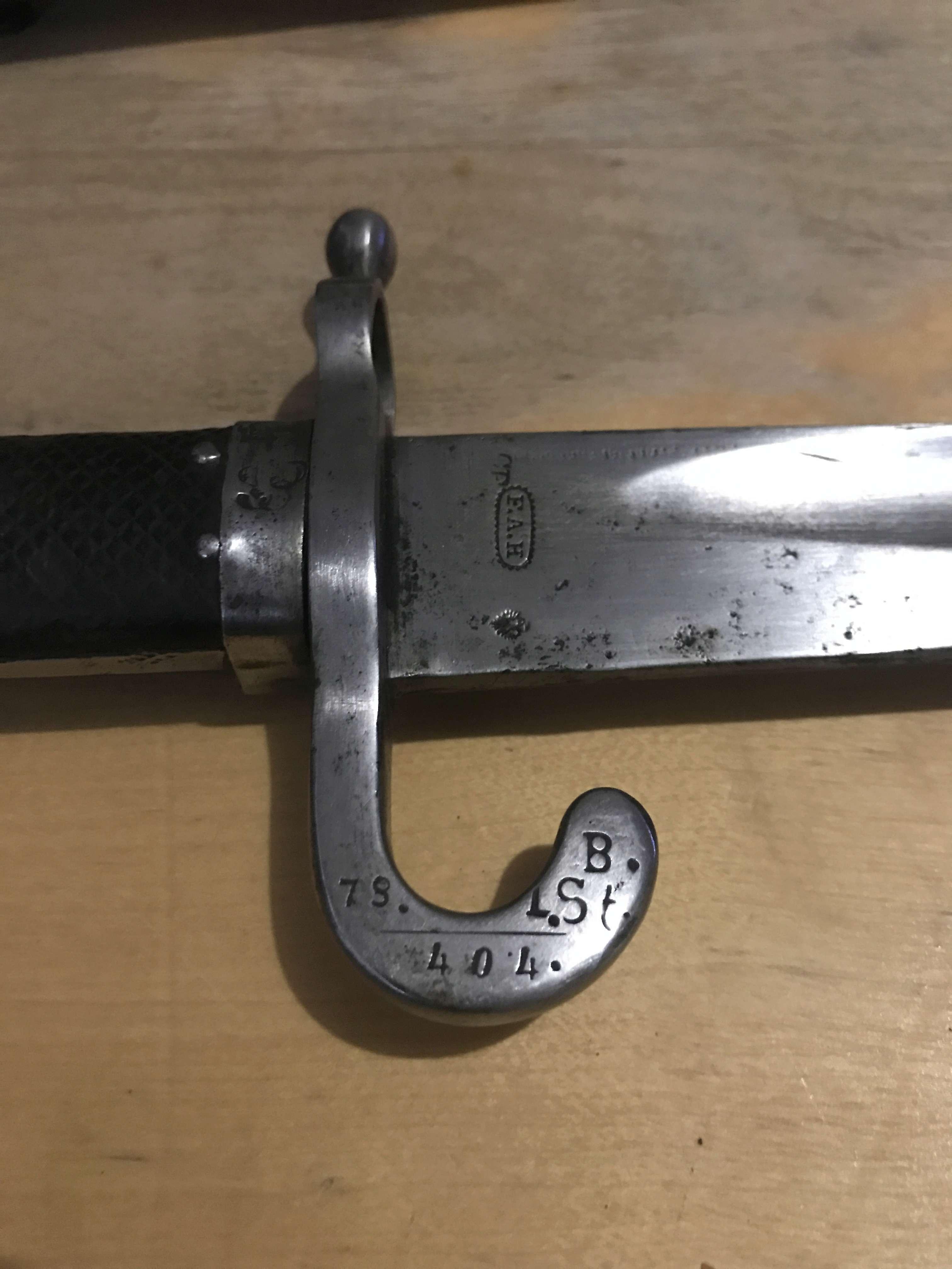 Estimation Baïonnette autriche 1867 fusil werndl Img_3316