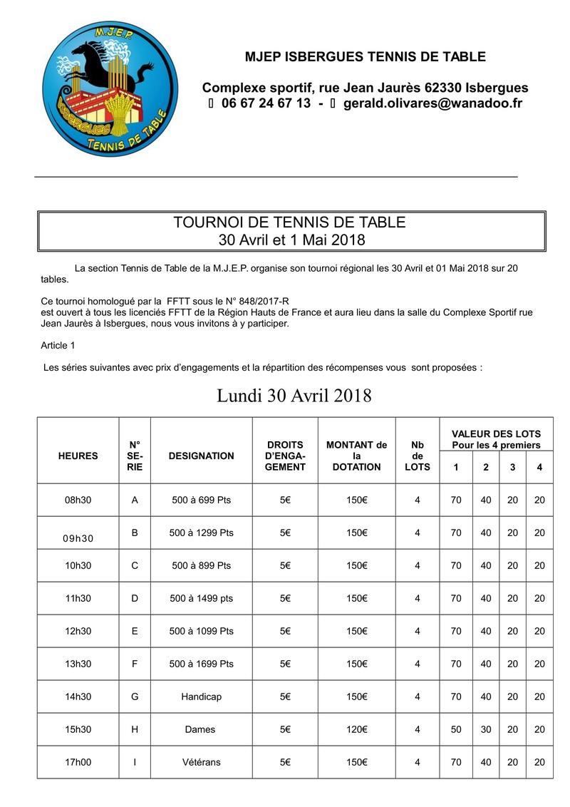 Tournoi MJEP Isbergues 2018 Ryglem12