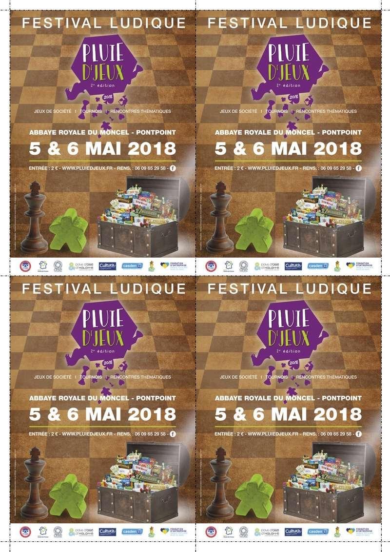Pluie d'Jeux 5 & 6 mai 2018 Affich11