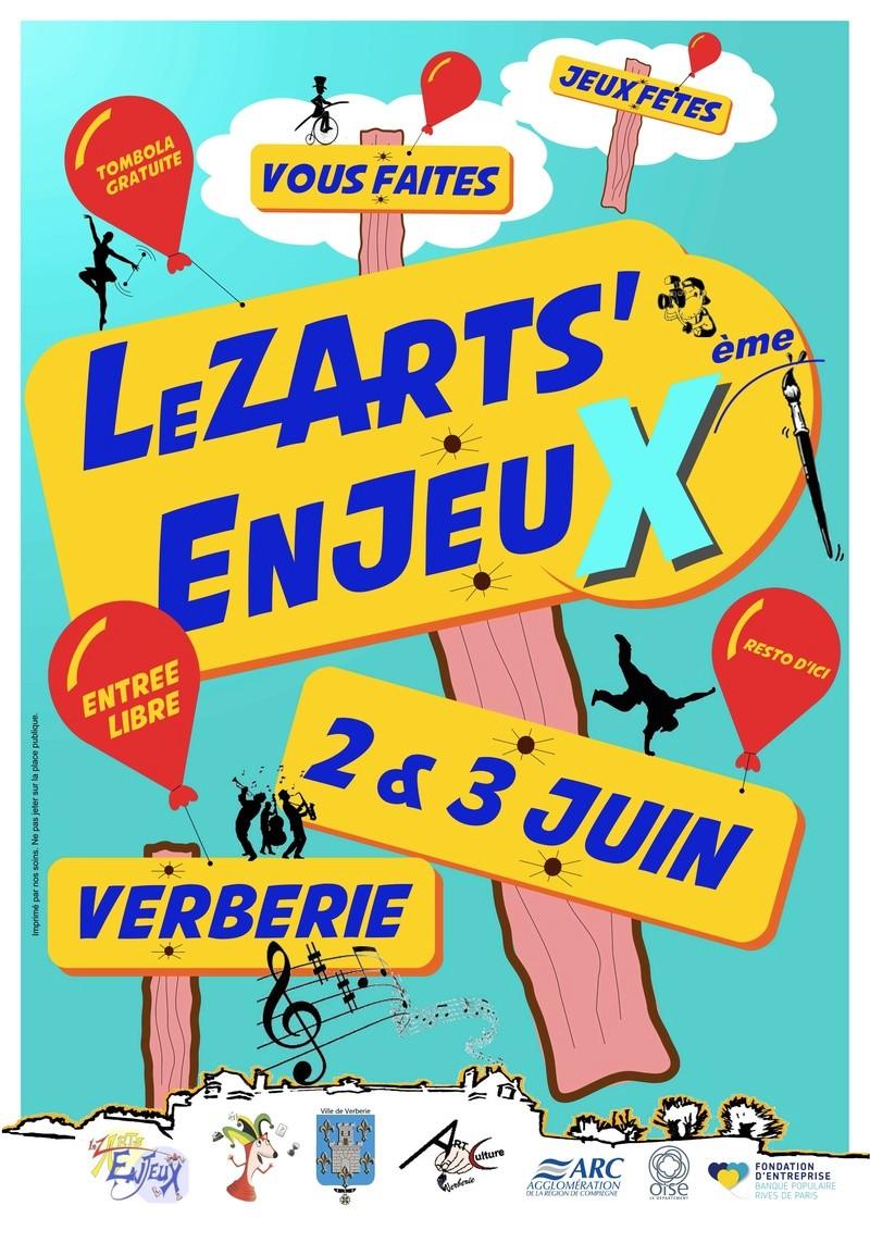 2 et 3 juin l'association des Enjeux organise le 10 ème festival des Enjeux, à Verberie.  Affich12