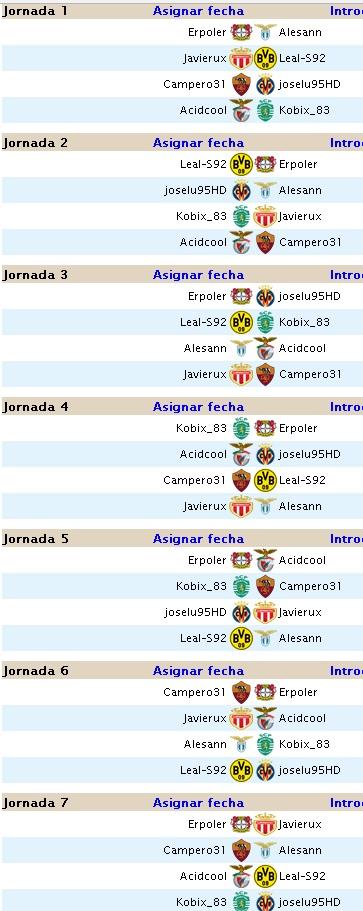 Primera División jornadas 5 y 6 Calend11