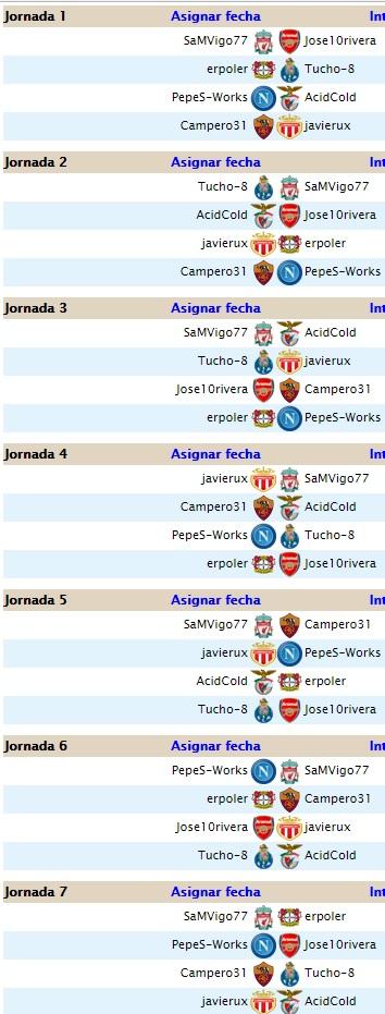 Liga 4.5 Segunda temporada ( Jornadas 1 y 2) Calend15