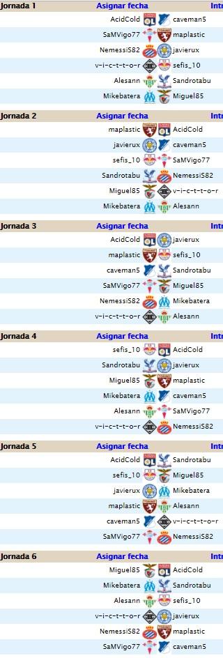 Jornadas 5 y 6 ( Liga 4 estrellas) Jornad10