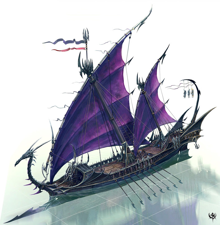 Das Dunkelelfen Korsaren Schiff / RC, 1:25 0110