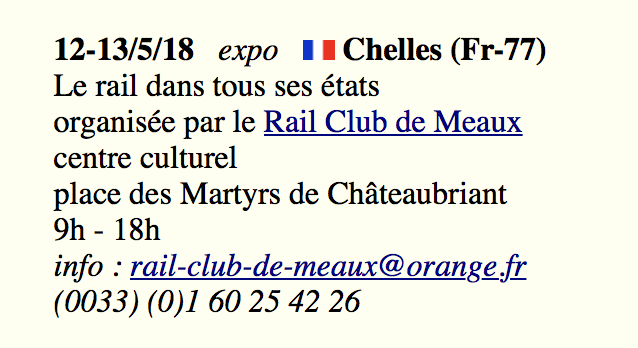 Exposition de Chelles : de graves lacunes de com' Date_e10