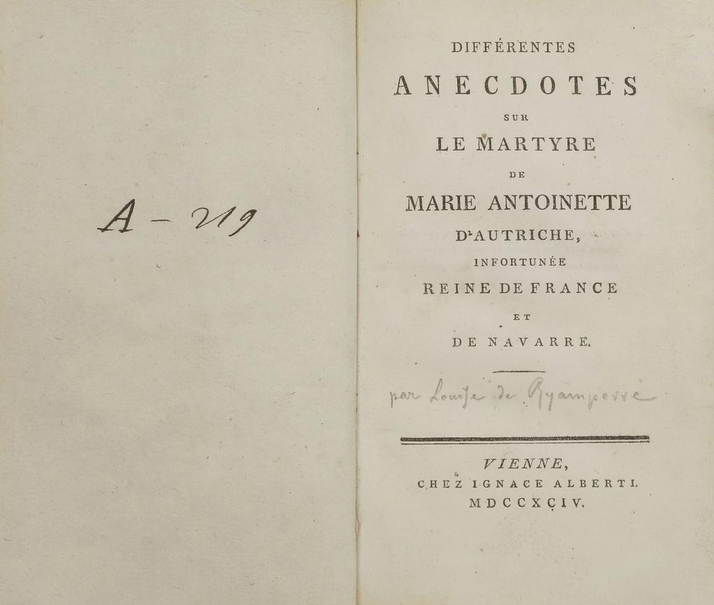A vendre: livres sur Marie-Antoinette, ses proches et la Révolution - Page 6 15155111