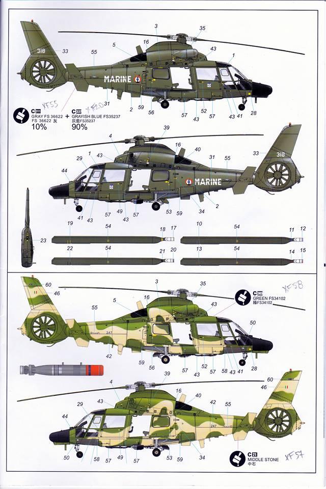 SA.365F/AS.565SA Dauphin II (1/48° de Kitty Hawk) 31841810