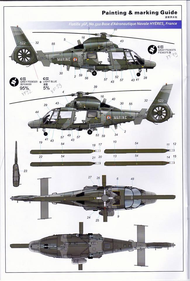 SA.365F/AS.565SA Dauphin II (1/48° de Kitty Hawk) 31880710