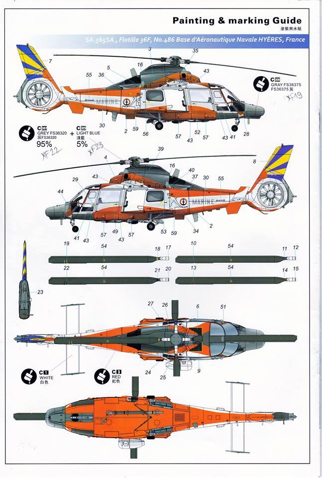 SA.365F/AS.565SA Dauphin II (1/48° de Kitty Hawk) 31911710