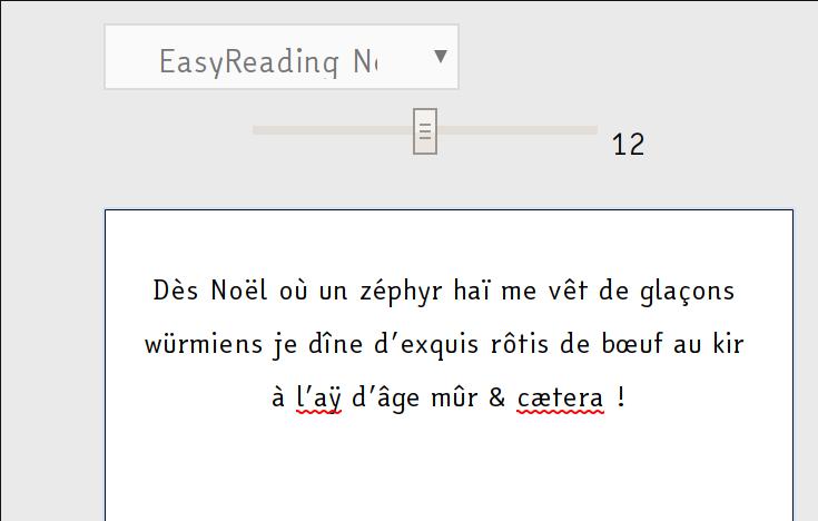 EasyReading : une police d'écriture pour dyslexiques qui séduit Microsoft Pangra10