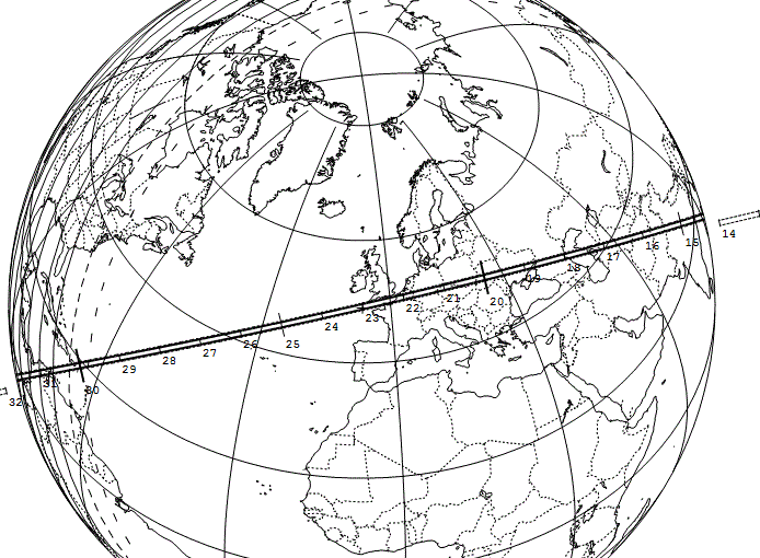 Occultation astéroïdale par (326) Tamara Globe10